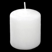 Candle Pillar Votive Unscented White  Pk1