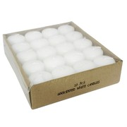 Candle Votive Unscented White  Pk20 (4cm x 3.7cm)