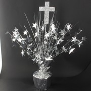 Centrepiece Weight and Pick Cross Silver Pk1