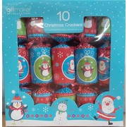 Christmas Modern Santa, Snowman and Bird Bon Bons (8in.) Pk 10