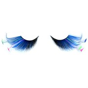 80's Party Eyelashes - Feather Tip Black & Blue Pk2