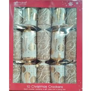 Christmas Cream & Gold Bon Bons (14in.) Pk 10