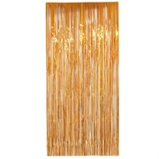 Curtain Tinsel Foil 90 x 200cm Orange Pk1