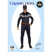 Adult Captain Hero Costume (One Size Fits Most) Pk 1