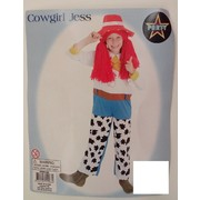 Child Cowgirl Jess Costume (Medium, 6-8 Years) Pk 1