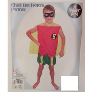 Child Bat Hero's Partner Costume (Medium, 6-8 Years) Pk 1