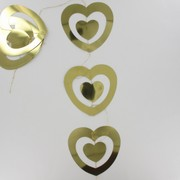 Garland Foil Double Heart Drop Gold Pk1