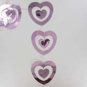 Garland Foil Double Heart Drop Pink Pk1