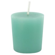 Candle Votive Unscented Green Pk1