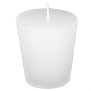 Candle Votive Unscented White Pk1