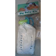 Blue Big Baby Nappy and Dummy Adult Costume Pk 1