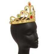 Crown Queen Gold Jewels Plastic Pk1