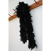 Black Feather Boa (2m) Pk 1
