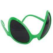 Sunglasses Alien Eyes Green Pk1