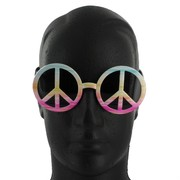 Party Glasses - Tye Dye Peace Sign Pk 1