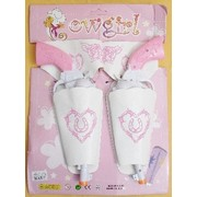 Pink and White Toy Cowgirl Guns & Holster (1 Set of 2 Guns)