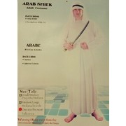 Adult Arab Sheik White Costume (One Size Fits Most) Pk 1