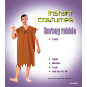 Barney Rubble Adult Costume (One Size Fit Most) Pk 1