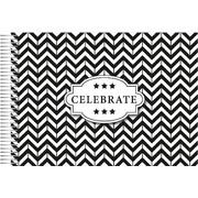 General Celebrate Keepsake Book (Black & White Chevron) Pk 1