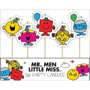 Mr. Men Little Miss Party Candles Pk 5