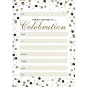 Formal Dots Party Invitation Pad Pk 20