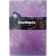 Purple Envelopes (101mm x 151mm) Pk 15