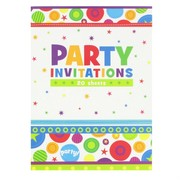 Invitation Pad Party - Circles & Stars (20 Sheets)