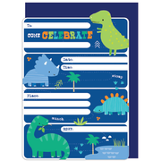 Dinosaur Party Invitations & Envelopes Pk 16