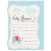 Baby Shower Mum to Be Invitations & Envelopes Pk 16