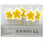 Frangipanis Party Candles Pk5