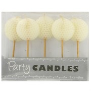 Golf Balls Party Candles Pk5