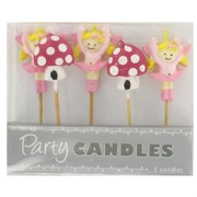 Fairy Party Candles - Fairies & Toadstools Pk5