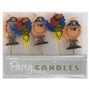 Pirates and Parrots Party Candles Pk5
