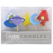 Space Party Candles Pk5