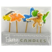 Dinosaur Party Candles Pk5
