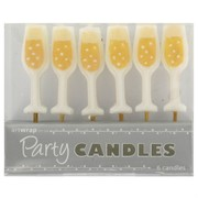 Champagne Glass Party Candles Pk5
