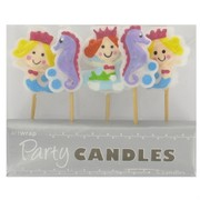 Mermaids & Seahorses Party Candles Pk5