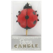 Ladybug Party Candle Pk 1