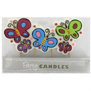 Butterfly Party Candle Pk 1