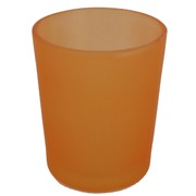 Votive Glass Frosted Apricot Pk1