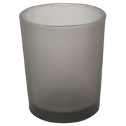 Votive Glass Frosted Grey Pk1