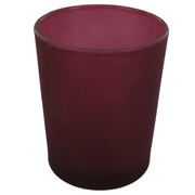 Votive Glass Frosted Plum Pk1