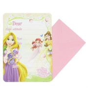 Disney Princess Party Invitation Pad & Envelopes Pk20