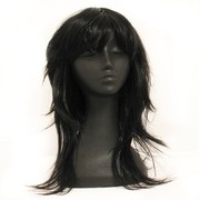 80's Party Wig - Retro Layered Black Pk1