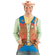 Men's Toy Cowboy Faux Real Shirt (Large) Pk 1
