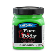 Fluoro Green Face and Body Paint (250ml Jar) Pk 1
