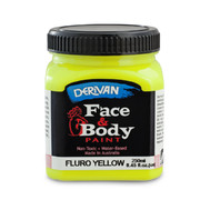 Fluro Yellow Face and Body Paint (250ml Jar) Pk 1