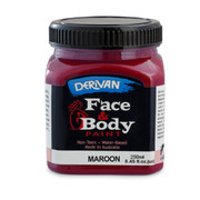 Maroon Face and Body Paint (250ml Jar) Pk 1