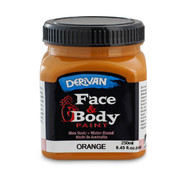 Orange Face and Body Paint 250ml Pk 1