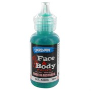 Aqua Glitter Face Paint 36ml Pk 1